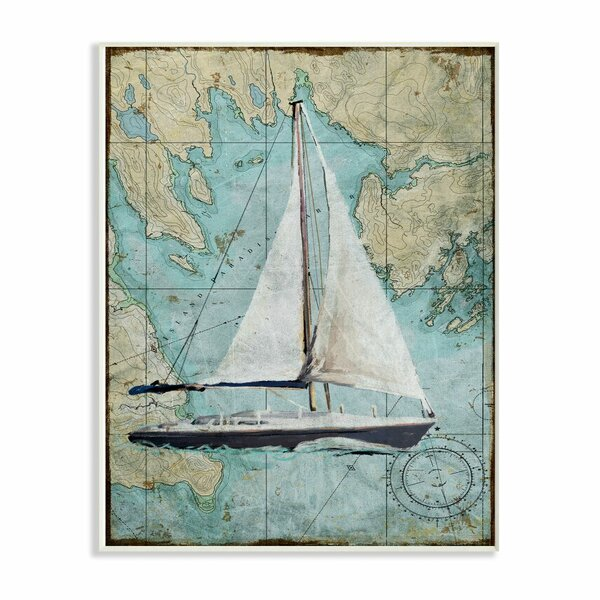 Sailing Ships Map Beige Wall Decal