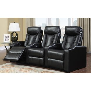 Bowler Home Theater Seating (Row of 3) by Latitude Run