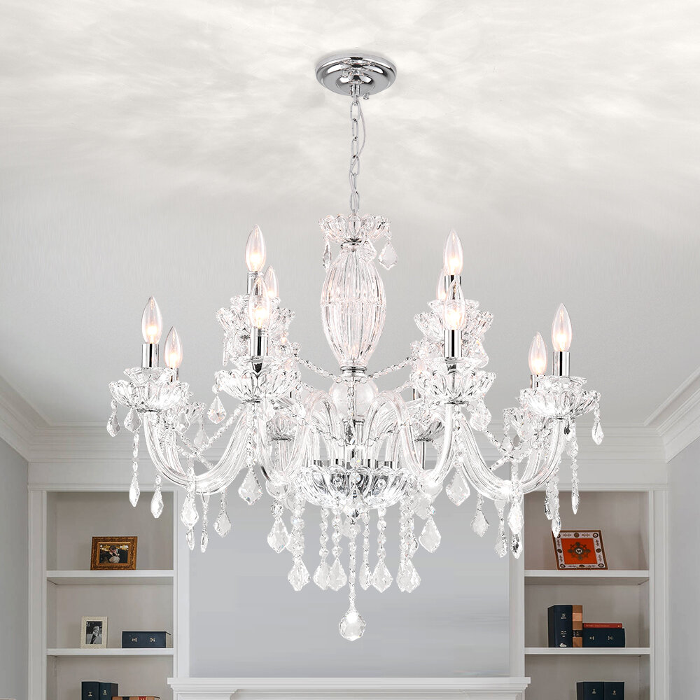 House Of Hampton Louann 12 Light Candle Style Classic Traditional Chandelier Reviews Wayfair