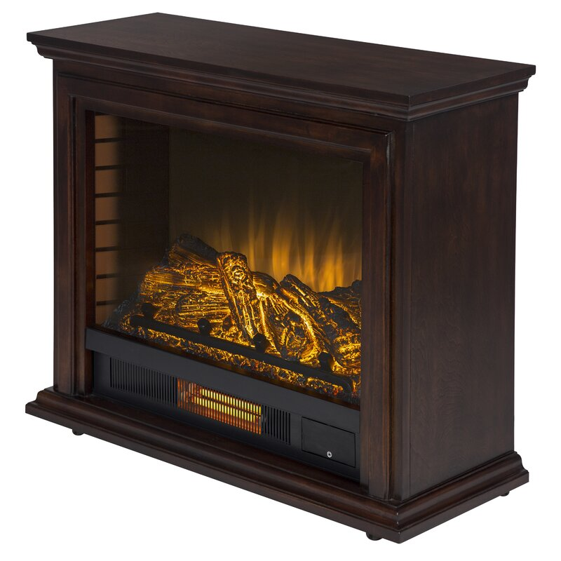 Charlton Home Mcgregor Mobile Electric Fireplace Reviews Wayfair