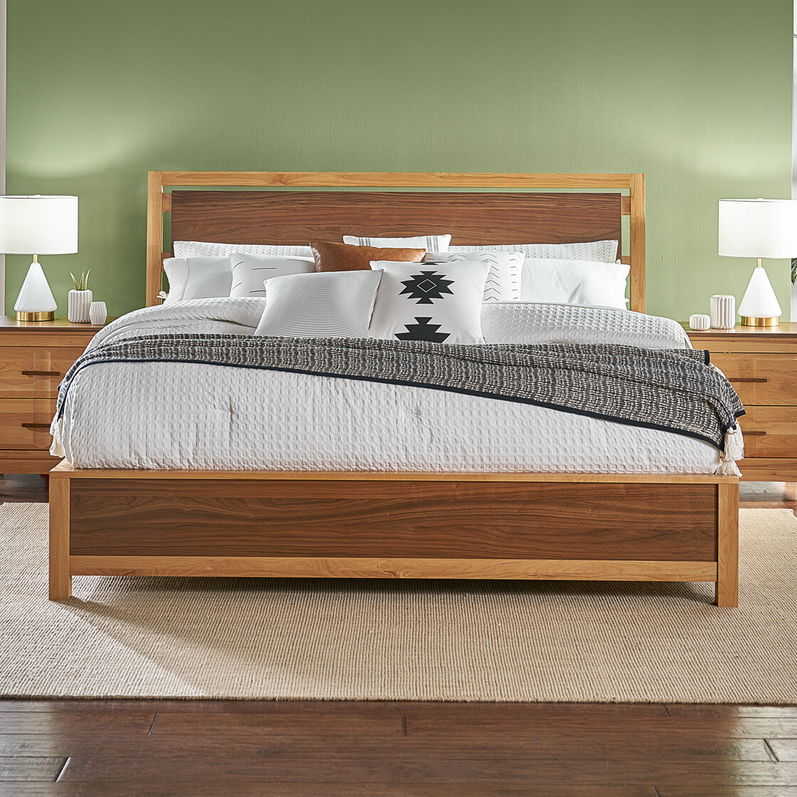 Ebern Designs Kenansville Solid Wood Platform Bed Wayfair