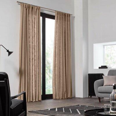 Gardine Bellevue mit Kräuselband (1 Stück)  halbtransparent | Heimtextilien > Gardinen und Vorhänge > Gardinen | Leinen | Madura