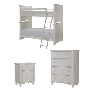 Summerset Twin Over Full Trundle Bunk Bed Customizable Bedroom Set by LC Kids