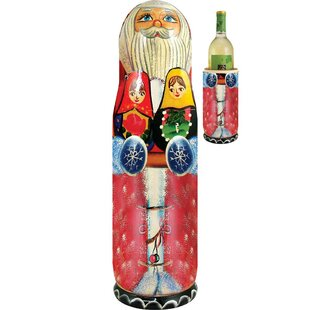 Katie Santa Matroyshka 1 Bottle Tabletop Wine Rack
