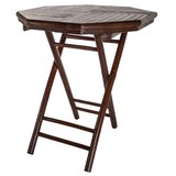 Abrams Folding Solid Wood Side Table