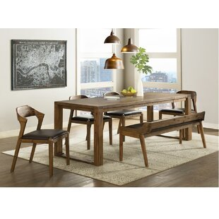 Bourgoin 6 Piece Drop Leaf Solid Wood Dining Set