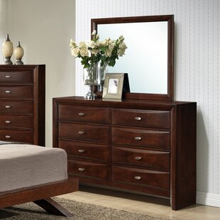 Alidge 8 Drawer Double Dresser with Mirror