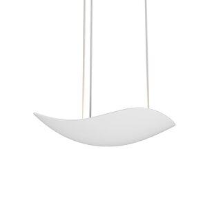 Orren Ellis Roberta 1-Light LED Bowl Pendant