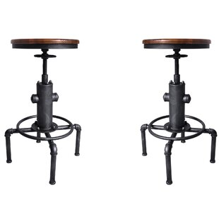 Aquavia Backless Adjustable Height Swivel Bar Stool - set of 2 (Set of 2) by Williston Forge