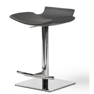 Flatiron Hydraulic Adjustable Height Swivel Bar Stool by Orren Ellis