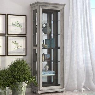 Gracie Oaks Gaston Lighted Curio Cabinet