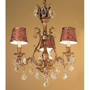 Classic Lighting Majestic 3-Light Shaded Chandelier