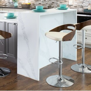 Zarate Adjustable Swivel Bar Stool Brayden Studio