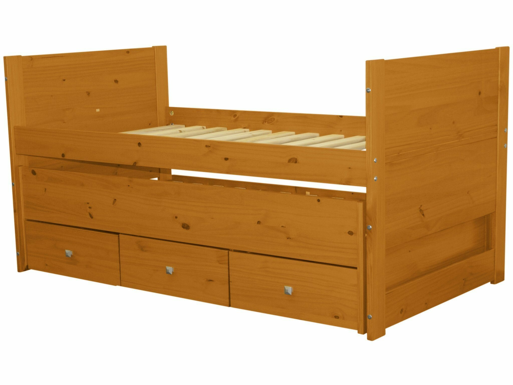 Bedz King Twin Captains Bed With Trundle And Storage Reviews Wayfair