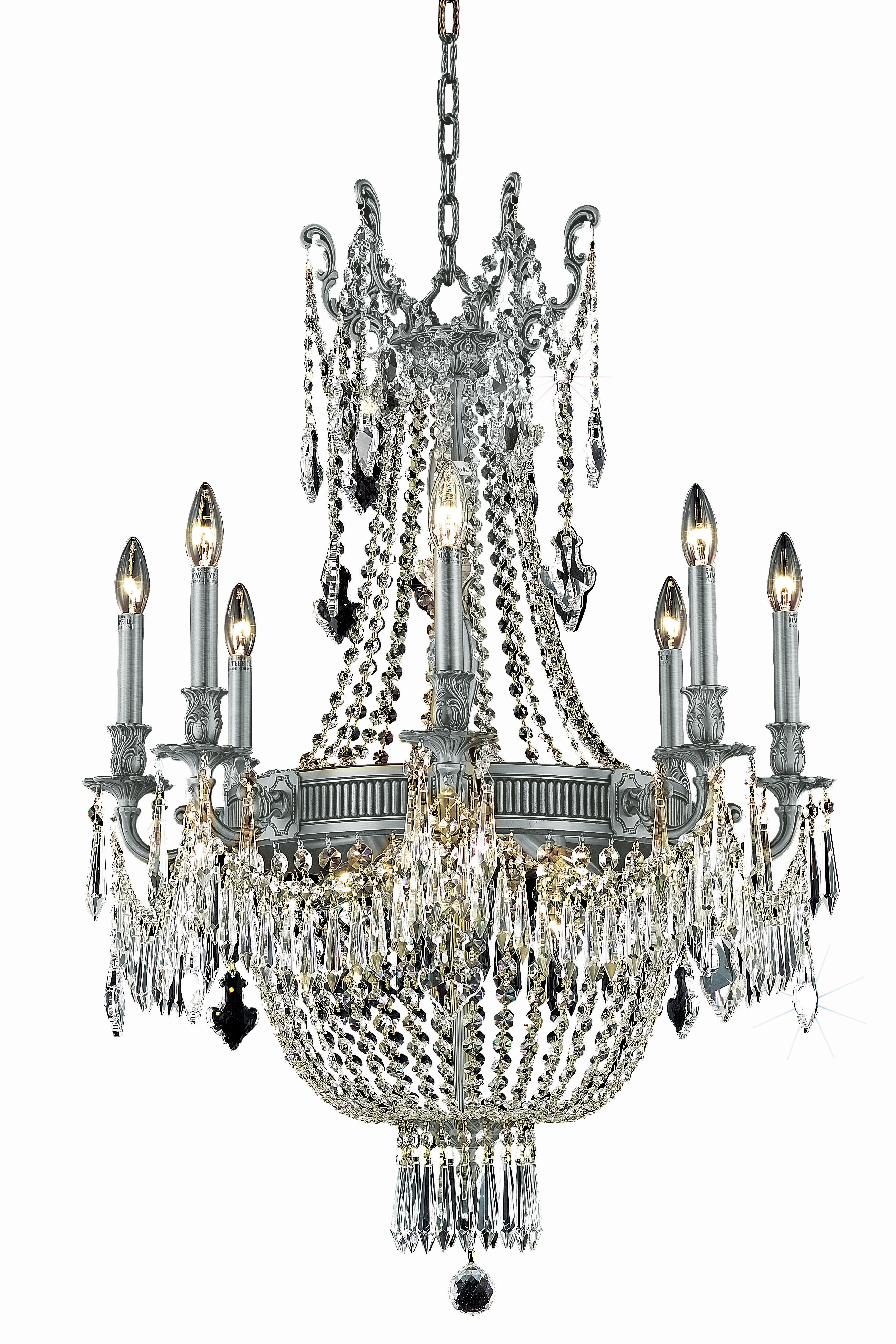 Astoria Grand Ursula 12 Light Candle Style Empire Chandelier With Crystal Accents Wayfair
