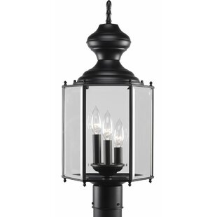 Triplehorn 3-Light Traditional Lantern Head in Black by Alcott Hill