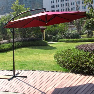 Winston Porter Redbridge Patio Hanging Outdoor 10' Cantilever Umbrella