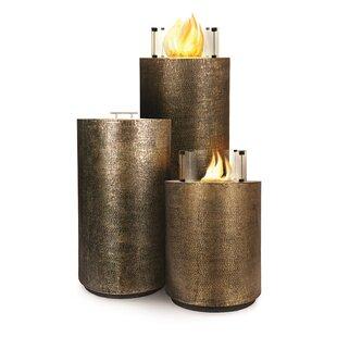 Ingot Aztec 3 Piece Copper Bio-Ethanol Fuel Fire Column Set by Seasonal Living