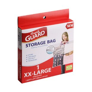 BPA Free XXL Plastic Strong Storage Bag with Zipper and Handle By Symple Stuff