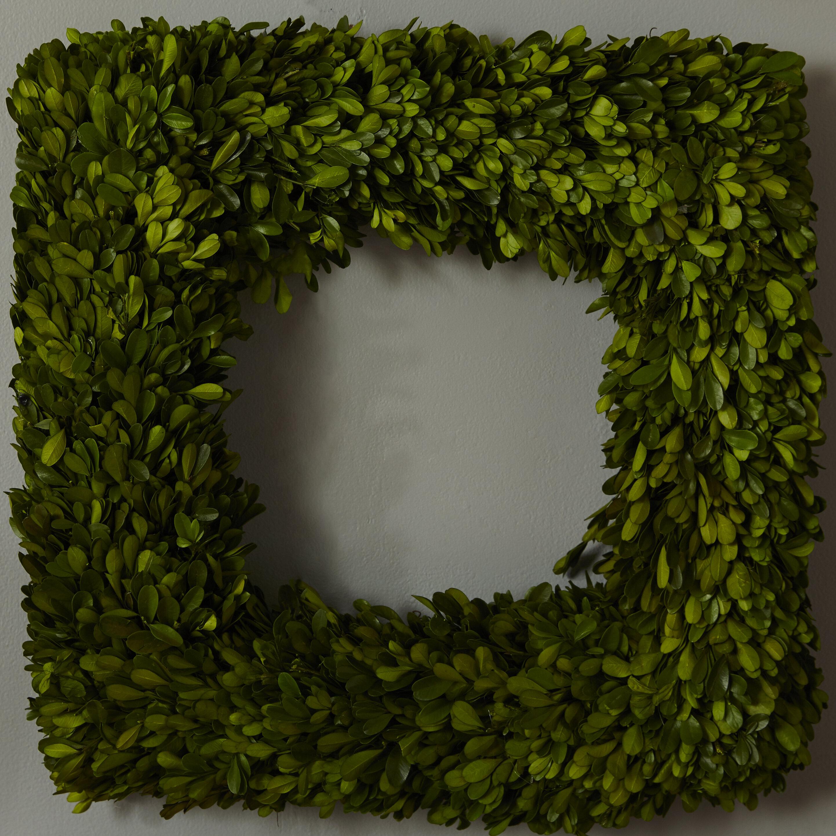 Boxwood Wreath-Faux Boxwood Wreath-Square Boxwood Wreath-Year Round Wreath-Square Wreath-Green Wreath-Modern Wreath-Housewarming Gift
