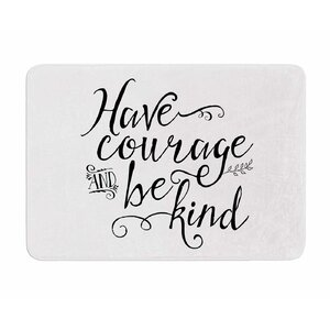 Have Courage and Be Kind by Noonday Design Memory Foam Bath Mat