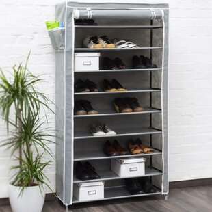 Berns 9 Compartment Shoe Rack By Rebrilliant