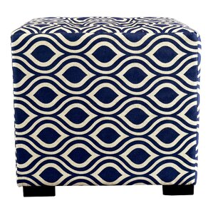 Merton Nicole Square 4-Button Upholstered Ottoman by MJL Furniture
