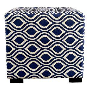 MJL Furniture Merton Nicole Square 4-Button Upholstered Ottoman