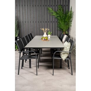 Faiyaz 10 Seater Dining Set By Sol 72 Outdoor