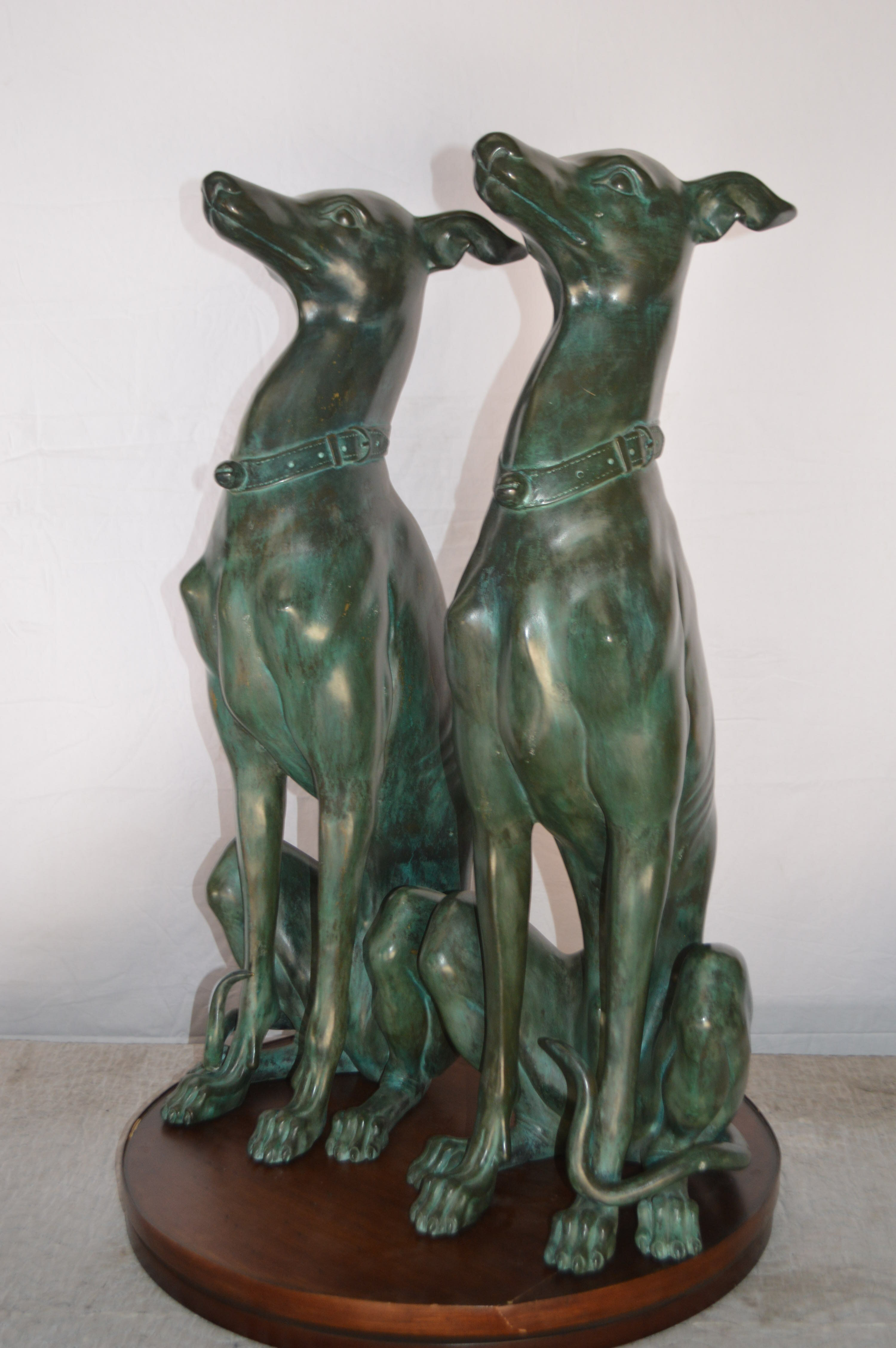 Astoria Grand Thedford Greyhound Dogs Sitting 2 Piece Statue Set Wayfair Ca
