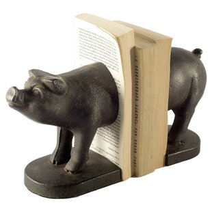 Pig Cast Iron Bookends (Set of 2)