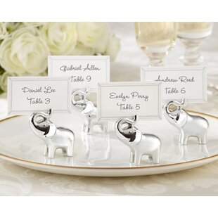 Lucky In Love Elephant Place Card Holder Set Of 24