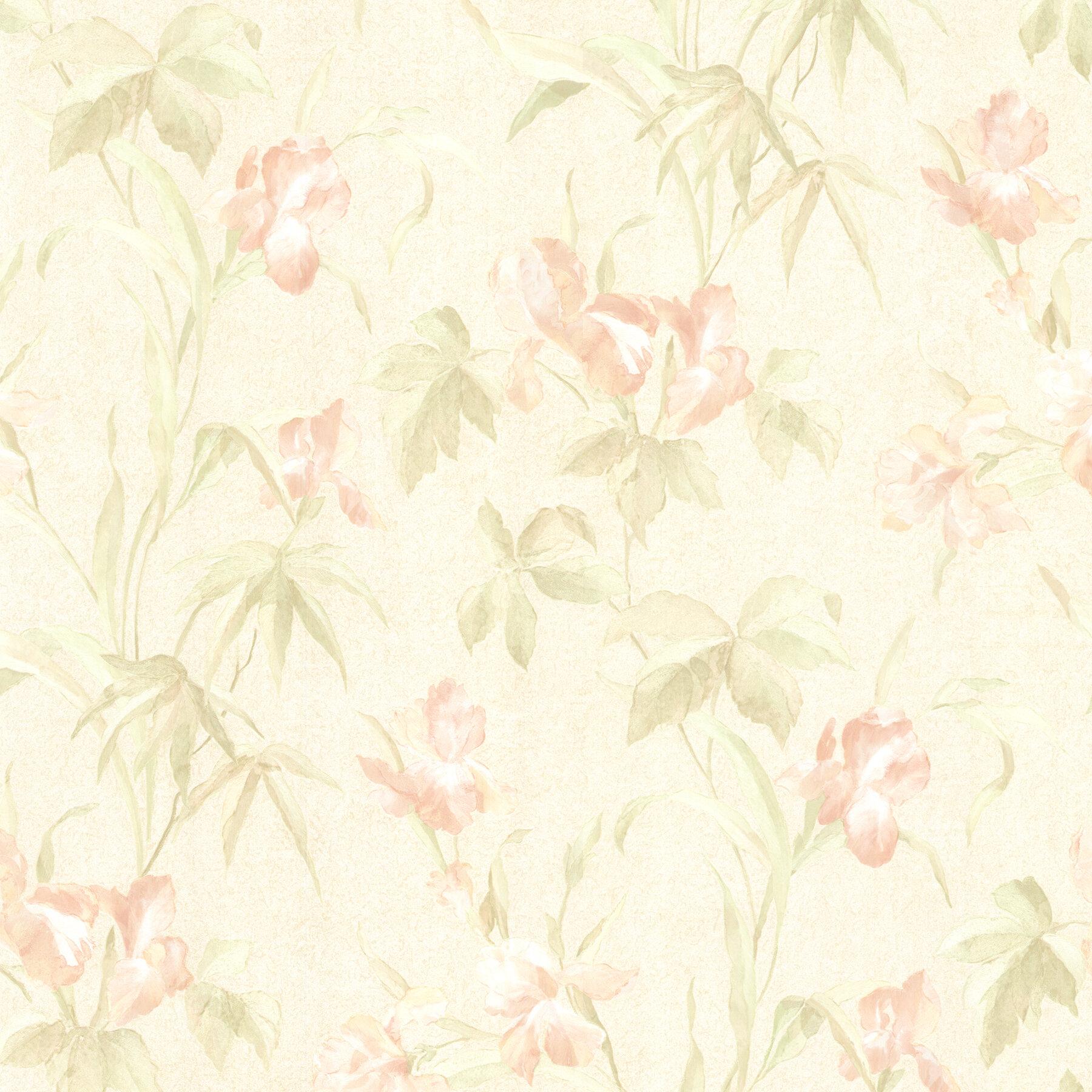 August Grove Prescod Satin 33 X 20 5 Floral Wallpaper Wayfair