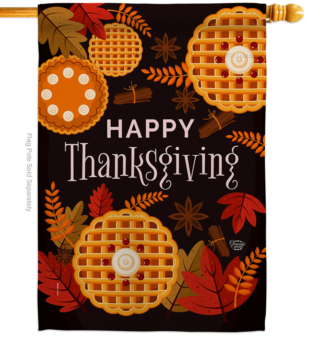 Ornament Collection Thanksgiving Leaves Impressions Decorative 2 Sided Polyester 40 X 28 In House Flag Wayfair