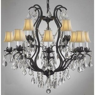 Rosdorf Park Clemence 12-Light Shaded Chandelier