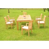 Kittredge 7 Piece Teak Dining Set
