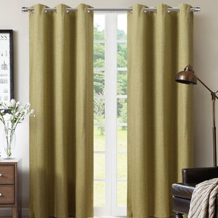 Morena Solid Color Room Darkening Thermal Grommet Curtain Panels (Set of 2) by Winston Porter