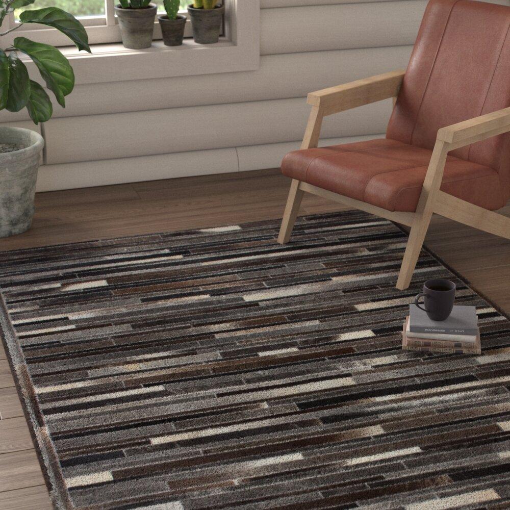 Union Rustic Kinnerly Handmade Grey And Brown Area Rug Wayfair Co Uk