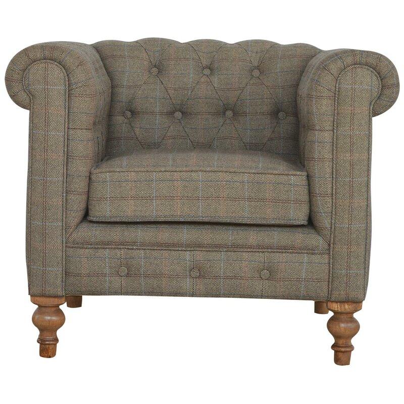 Hazelwood Home Chesterfield Single Seater Armchair Wayfair Co Uk
