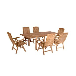 Rosecliff Heights Farnam 7 Piece Teak Dining Set