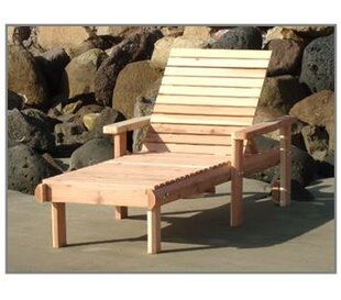 Henry Beach Wood Chaise Lounge