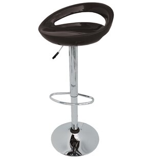 Kierra Adjustable Height Swivel Bar Stool (Set of 2) Orren Ellis