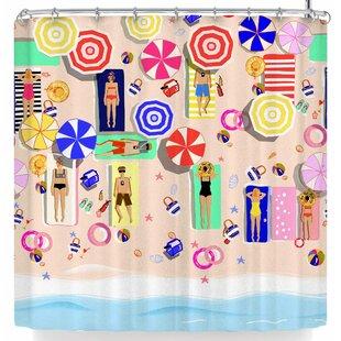 East Urban Home Mukta Lata Barua Beach Holiday Shower Curtain