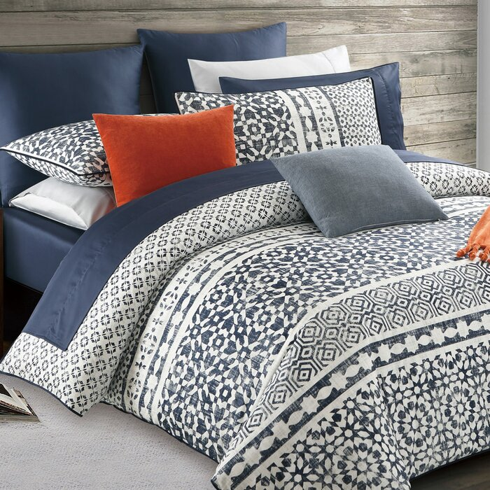 Pizarro Cotton Reversible Duvet Cover Set