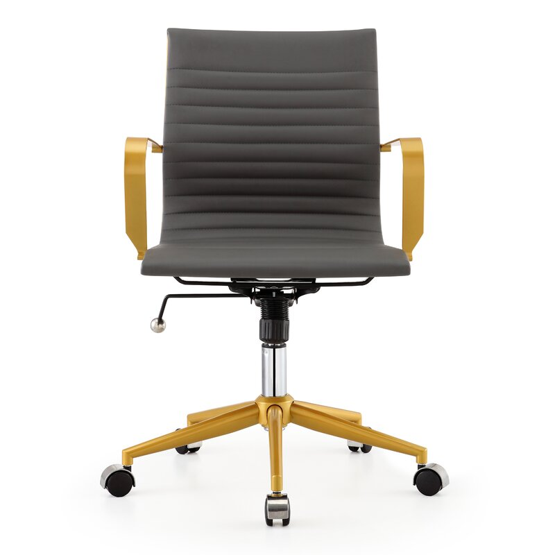 Mid Back Vegan Leather Office Chair