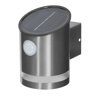 LED Solar Outdoor Sconce With Motion Sensor By Symple Stuff