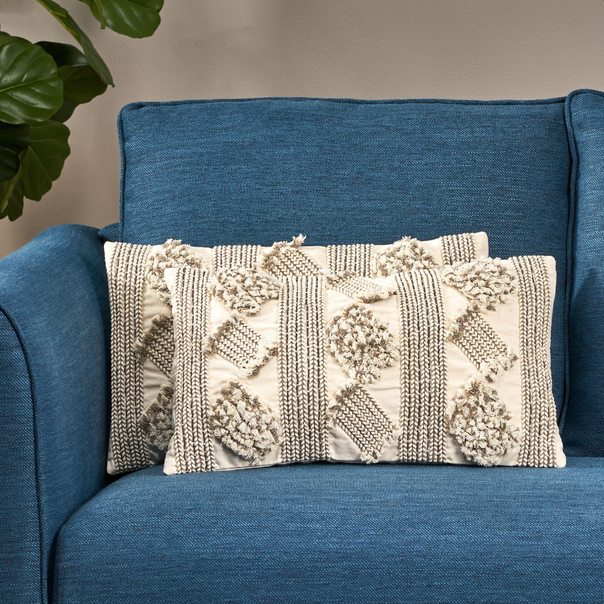 Dakota Fields Michelle Cotton Throw Pillow Cover Wayfair