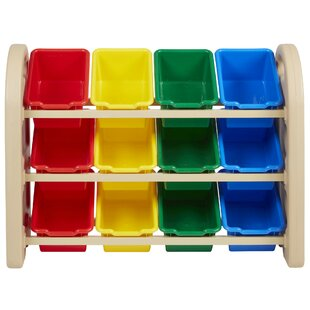 Great Price 12 Compartment Cubby with Bins By ECR4kids