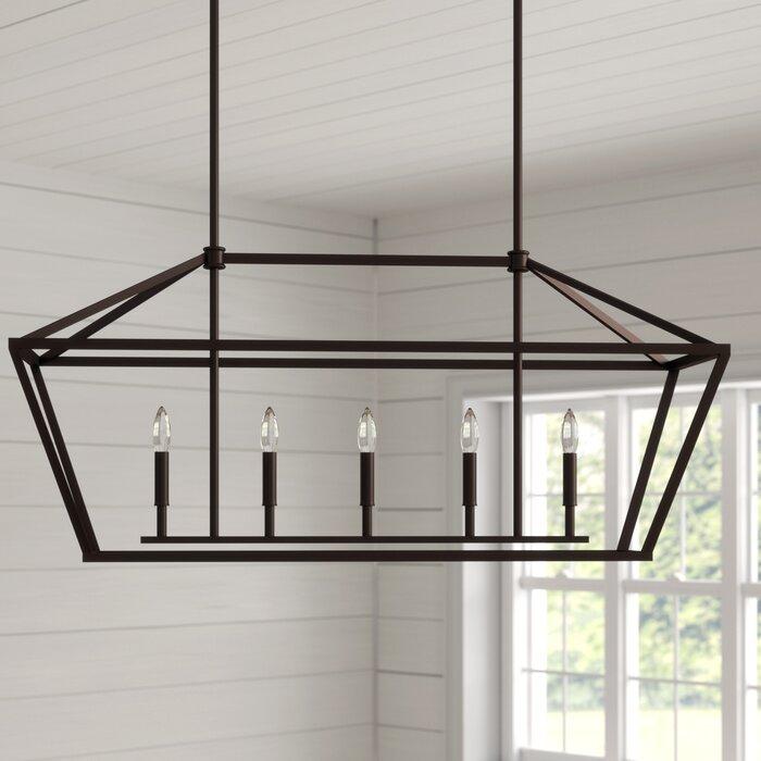Freemont 5 Light Kitchen Island Linear Pendant