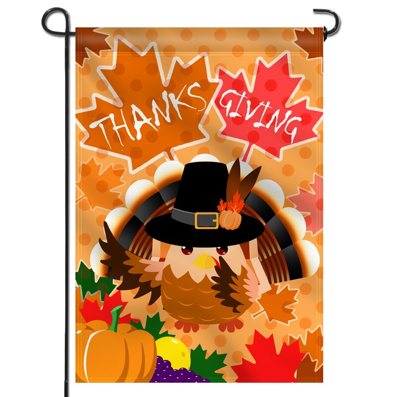 Anley Happy Thanksgiving Day 2 Sided Polyester 18 X 13 In Garden Flag Wayfair